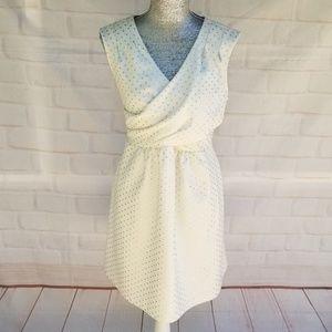 Maison Jules Dresses - Maison Jules Gold Polka Dots White Dress